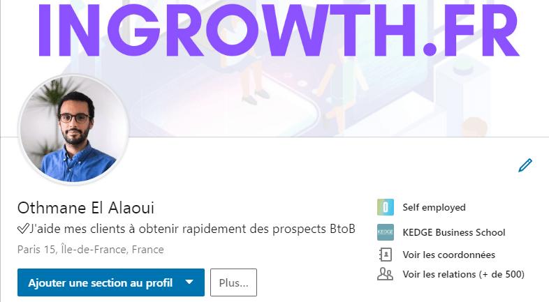 Profil Linkedin Othmane El Alaoui
