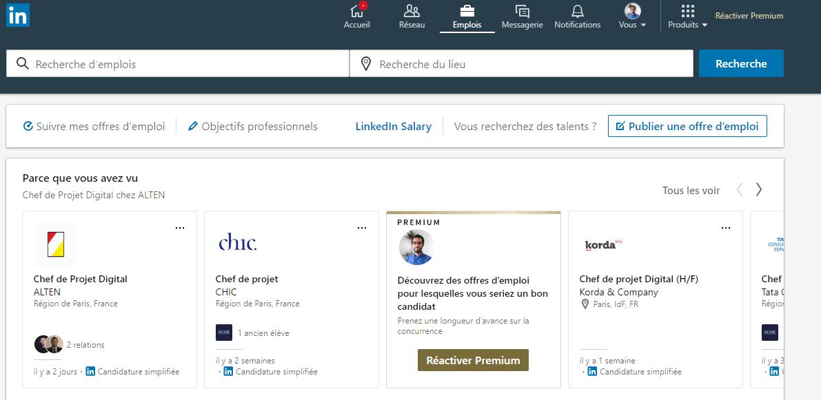 Emploi Linkedin