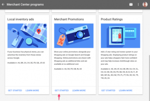 Google merchant center promotions
