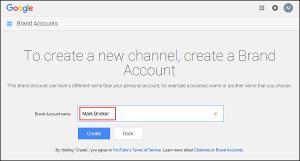 Créer un entreprise marque youtube