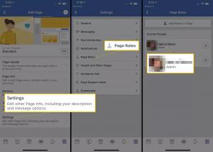 Les différents rôle de page facebook