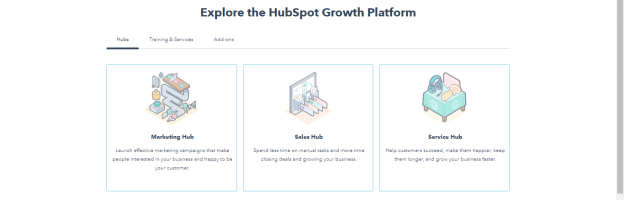 hubspot crm home page