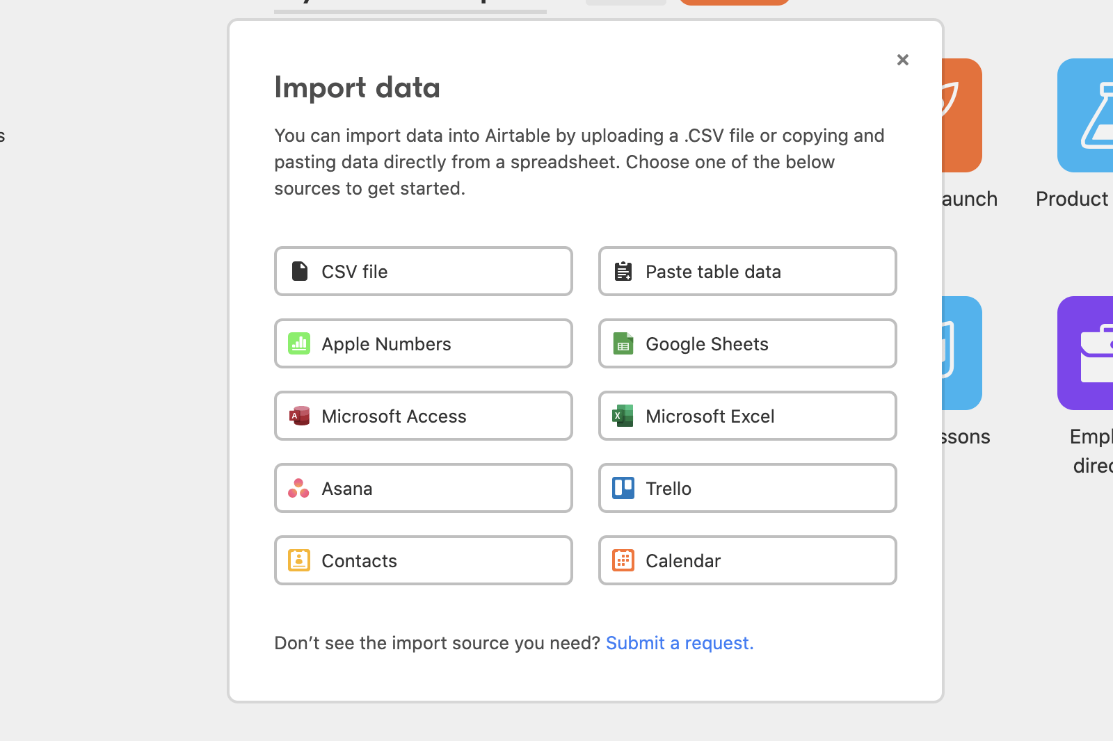 import airtable