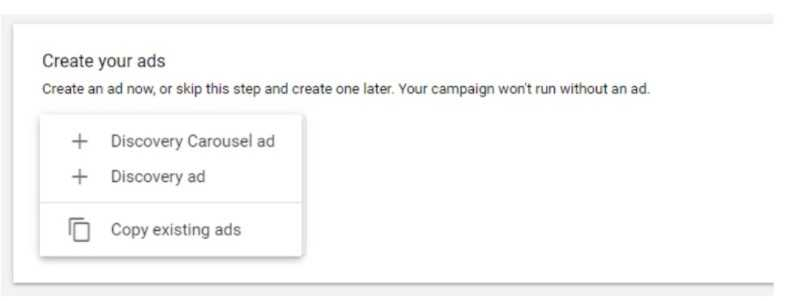 type ad google discovery