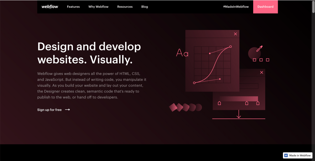 home page webflow
