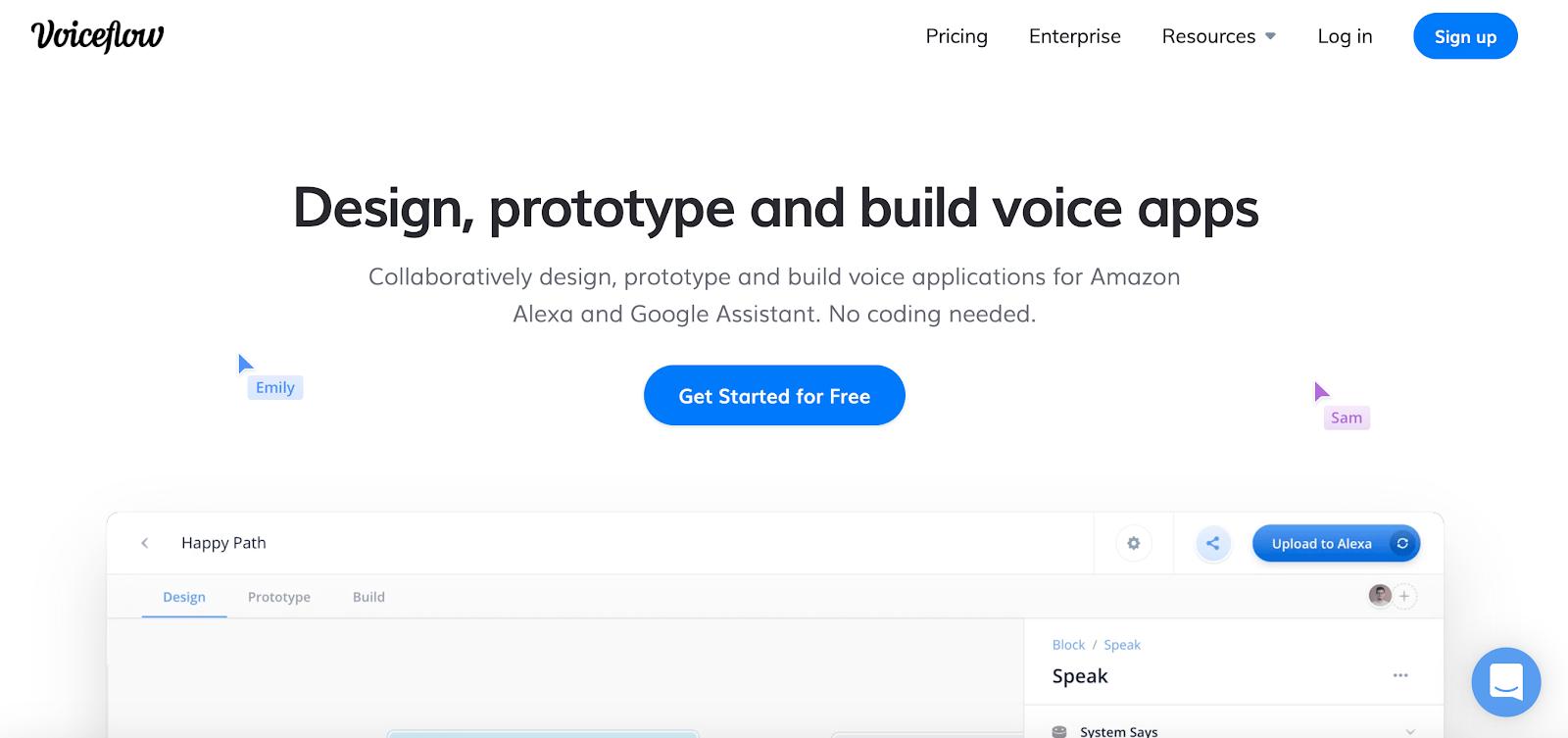voiceflow accueil