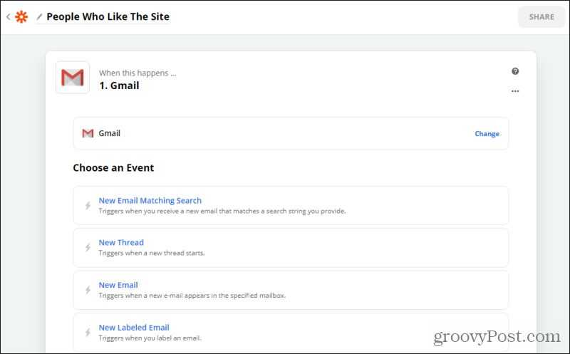 gmail event