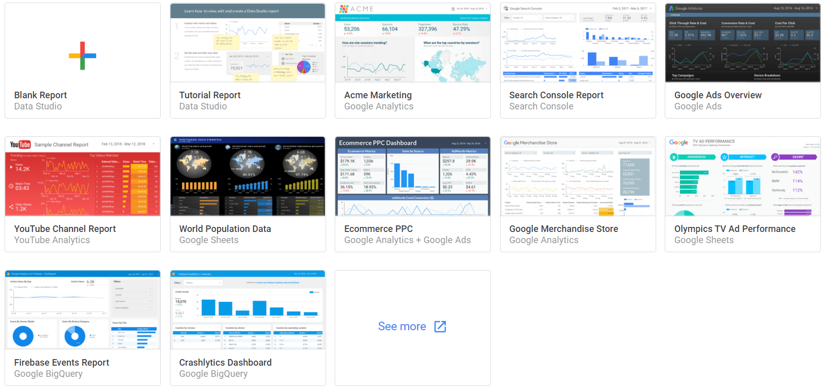 data studio template